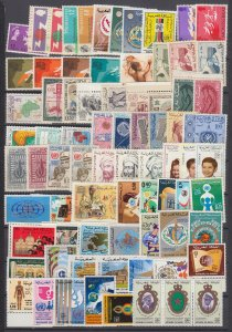 J29704,  montserrat & morocco mnh sets and sets of 1 lot all different