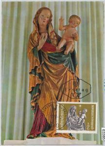 63385 -  AUSTRIA - POSTAL HISTORY: MAXIMUM CARD 1972 -  ART  Christmas SCULPTURE
