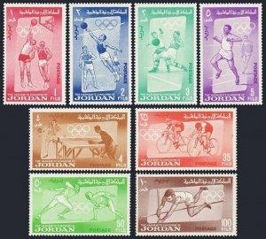 Jordan 446-453,453a,MNH. Olympics Tokyo-1964.Basketball,Volleyball,Fencing,