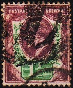 Great Britain. 1902 1 1/2d S.G.221 Fine Used