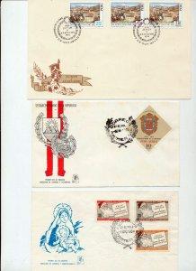 PERU 1960s/70s Covers FDC Airmail (22 Items) Seq 277