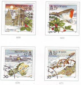 Isle of Man Sc 662-5 1995 Christmas stamp set used