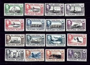 Falkland Is 84-96 MNH 1938-46 set;
