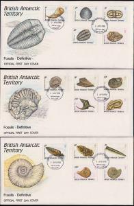 British Antarctic Territory Scott 153-167 Unaddressed.
