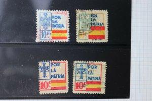 Spain Civil War Asturias CR Fatherland patriotic 10c charity seal fund DL