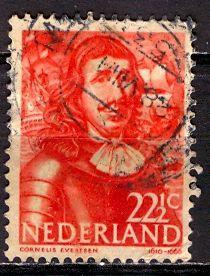 Netherlands; 1943: Sc. # 258: O/Used Single Stamp