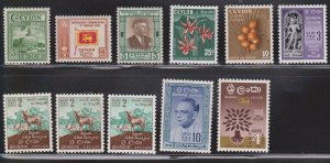 CEYLON Small Selection Of MH Stamps - Some Duplication
