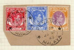 Malaya Straights Settlements 1940s Early Issue Fine Used 30c. Piece 298942