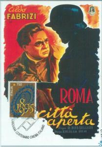 67281 - ITALY  - Postal History -  SPECIAL POSTCARD -  CINEMA 1995 R Rossellini