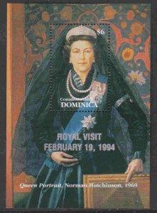 Dominica #1689 s/sheet F-VF Mint NH ** Royal Visit, 1994
