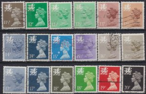 0271) G.B. - Wales. 1971/93. Used. Small collection. c£21.50+
