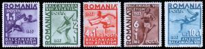 Romania Scott B77-81 (1937) Mint LH VF Complete Set, CV $8.60 B