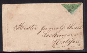 Nova Scotia #4a VF Used Bisect On Cover To Halifax **With Certificate**