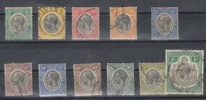 Tanganyika KGV 1927 Set To 1/- Fine Used J8449