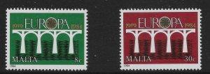 MALTA SG736/7 1984 EUROPA SET MNH