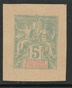 French Anjouan France Postal Stationery Cut Out A17P4F894