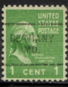US Stamp #804x703 - George Washington - Presidential Issue 1938 Precancel