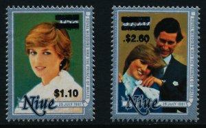 Niue 410,2 MNH Prince Charles, Princess Diana Wedding o/p