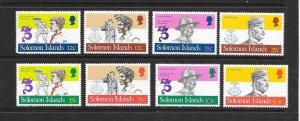 SOLOMON ISLANDS #487-8  SCOUTING YEAR  MNH
