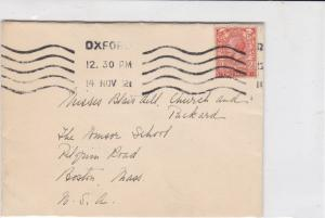 british 1921 oxford mark stamps cover ref 19413