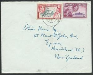 PITCAIRN 1957 commercial cover to NZ - NZSCo logo on flap..................59800