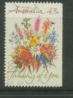 Australia SG 1231  VFU  booklet imperf stamp middle right