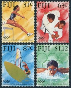 Fiji 762-765,MNH.Michel 770-774.Modern Olympic Games,1996.Hurdling,Judo,Swimming