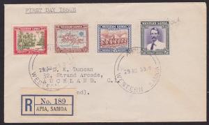 SAMOA 1939 25th Anniv set on registered FDC ex Apia.........................1319