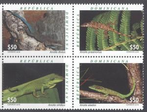 Dominicana Dominican rep 2016 fauna reptiles lizards set MNH