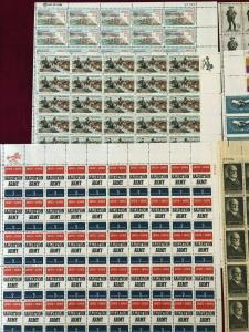 (10) 5 Cent Complete Sheets of 50 Stamps MNH OG