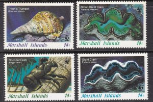 MARSHALL ISLANDS ^^^^^sc#110-113 MNMH set ( SEASHELLS) @ lar1427mars