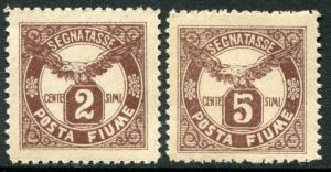 FIUME # J13 - J14 F-VF Never Hinged Set - EAGLE POSTAGE DUE STAMPS - S6122