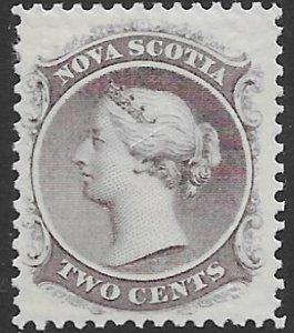 Nova Scotia 9   1860   two  cents  fine mint  hinged