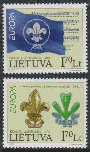 2007 Lithuania 933-934 Europa Cept