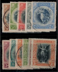 Barbados 1920 SC 140-150 Used Set SVC 323.00