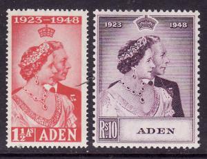 Aden-Sc#30-1-unused NH set-KGVI-Silver Wedding-1948-