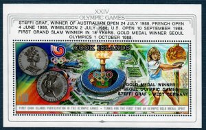 Cook Islands 1001 MNH S/S 1988 Summer Olympics Seoul (SCV $16.00)