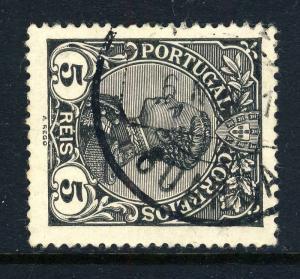PORTUGAL - 191?  GUARDA  Type 1 Circle Date Stamp on Mi.155 5R Black