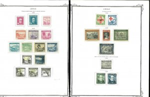 Chile 1934-1964 Mint (mostly) & Used Hinged & in Mounts on Scott Spec.Pages