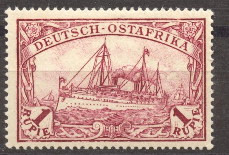 German East Africa, 1901 the 1 Rupee Michel # 19, MNH, superb