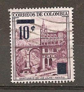 COLOMBIA STAMPS,VF SANTUARIO DE LAS LAJAS MARINO ,VFU # C0 1