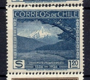 Chile 1936 Anniversary Issue Mint hinged Shade of $1.20 NW-13000