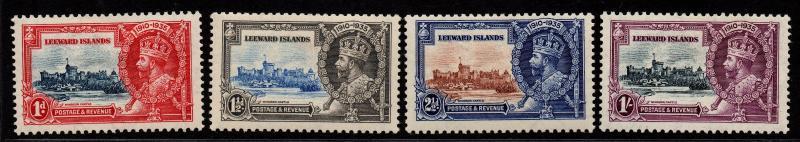 $Leeward Islands Sc#96-99 M/H/VF, complete set, Silver Jubilee, CV. $36