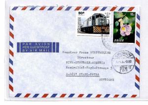 CM348 *ZAIRE* Missionary Air Mail MIVA Austria Cover