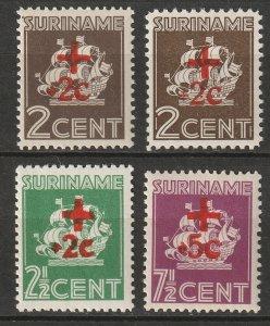 Suriname 1942 Sc B37-40 inc B39a set MNH