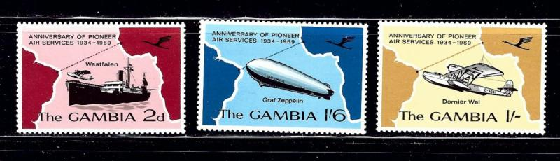 Gambia 241-43 MNH 1969 Anniv of Pioneer Air Services