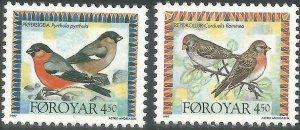 Faroe Islands 1997 #313-4 MNH. Birds