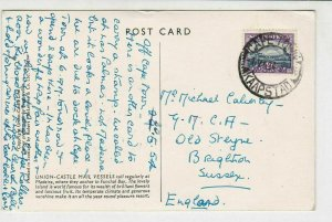 South Africa 1954 Cape Town Cancel With Funchal Madeira Pic Stamps Card R 17462