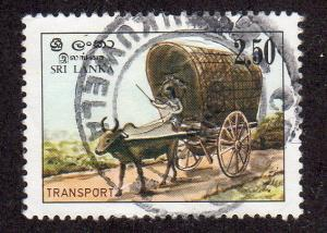 Sri Lanka 688 - Used - Cattle Cart (cv $1.60)