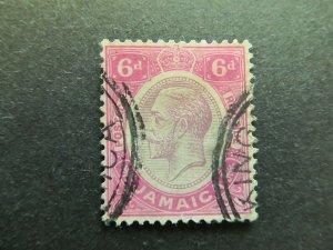 A4P21F11 Jamaica 1912-20 Wmk Mult Crown CA 6d used